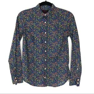J. Crew 0 Liberty Catesby Floral Perfect Shirt